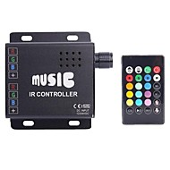 DC12-24V  Common Anode IR Two Strip 24key RGB Music Controller RGB Led Strip Remote Controller (Cannot plug Audio)