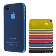 Thin PC Transparent soft Case Cover for iPhone 4/4S(Assorted Colors)