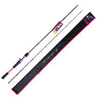 Fish Hunter - 1.98m 2 secciones M Fast Lure Rod del carbón pesca Rod del bastidor