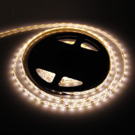 Waterdichte 5M 24W 300x3528SMD 3000-3500K warm wit licht LED Strip Lamp (DC 12V)