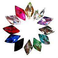24PCS Mixs 색깔 반짝임 사방형 모조 다이아몬드 못 예술 훈장