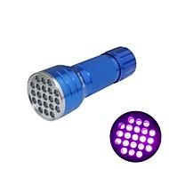 Huntereyes ™ 395-400NM 21 LED UV 플래쉬 블루 (3XAAA)