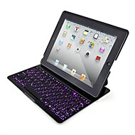 sete cores backlight teclado bluetooth para ipad 4/3/2