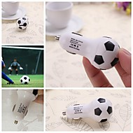 Football Pattern Car Charger for iPhone and Other Electronics(5V 2.1A)
