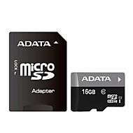 ADATA 16GB Clase 10 / UHS-I U1 MicroSD/MicroSDHC/MicroSDXC/TFMax Read Speed20 (MB/S)Max Write Speed16 (MB/S)
