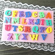 πολύχρωμα κεφαλαίο γράμμα σχήμα ψήνει κέικ μούχλα fandant (l10cm * * w6.5cm h0.7cm)