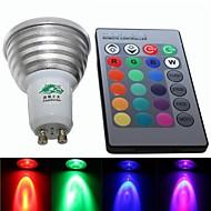 4W E26/E27 LED Spot Işıkları S19 3 Entegre LED 220-250 lm RGB Kısılabilir / Uzaktan Kumandalı / Dekorotif AC 85-265 V