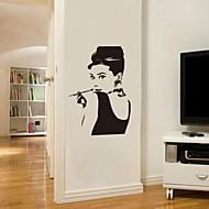 jiubai ™ Audrey Hepburn muursticker muurtattoo