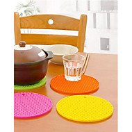 Round Shape Silicone Coasters(Assorted Color)