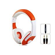 VYKON MQ44 Superb 3.5 mm On-ear-koptelefoon met microfoon en 1,2 m (White & Orange)