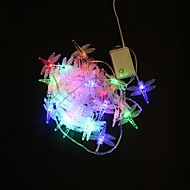 40-LED 5M Monivärinen Dragonfly värinvaihto String värivalot jouluksi Party Häät
