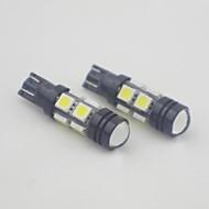 T10 3W 8x5050SMD 490LM 6000-6500K Cool White Light LED Bulb for Car (12V,2 pcs)