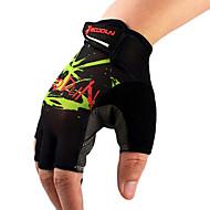 boodun unisex preto e verde lycra meias anti-derrapantes luvas dedo ciclismo