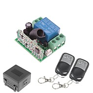 12V 1-kanaals draadloze afstandsbediening Vermogensrelaismodule met Double Remote Controller (DC28V-AC250V)