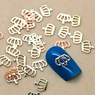 200PCS Crown Shape Golden Metal Slice Nail Art Decoration