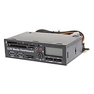 5,25 USB3.0 internas Host + USB2.0 Card Reader + SATA + LCD +1 FAN