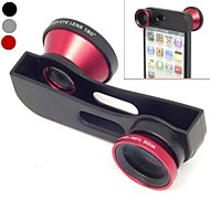 Quick Change 3 em 1 lente grande angular, Lente Macro e 180 Fish Eye Lens Kit Set para iPhone 5/5 (cores sortidas)