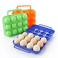 12 omgordt dozen plastic ei (willekeurige kleur)