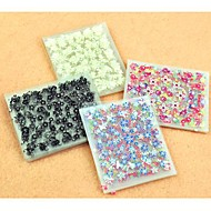 50Pcs 3D Design Tip Nail Art Sticker Decal Manicure Mix Color Flower 917