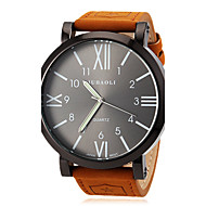 Men's Watch Military Roman Numeral Big Black Dial