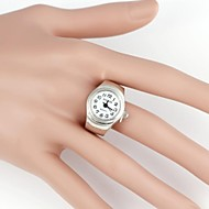 Simple Round Metal Quartz Analog Ring Watch(1Pc)  Cool Watches Unique Watches