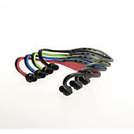 újratölthető vékony sportolási microSDHC TF kártya mp3 lejátszó sztereó fejhallgató (vegyes szín)