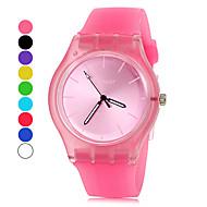relógio banda doce cor de silicone estilo simples das mulheres