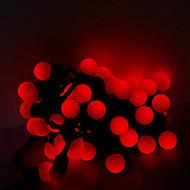 5m 50 lysdioder jul halloween dekorativa lampor fest lysrör-rosa ljus boll lampor (220V)