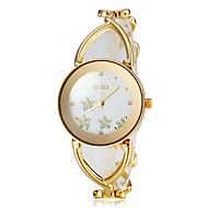 Damskie Modny Zegarek na nadgarstek Zegarek na bransoletce Japoński Kwarcowy Stop Pasmo Kwiat Elegancki Biały ZłotyGold Silver Różowe
