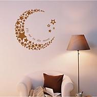 ™ luna e le stelle jiubai autoadesivo della parete decalcomania della parete