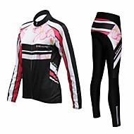 REALTOO® Koszulka i spodnie na rower Damskie Długi rękaw RowerOddychający / Keep Warm / Quick Dry / Przepuszczalność wilgoci / 3D PAD /