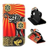 Varten Samsung Galaxy kotelo Korttikotelo / Tuella / Flip / Kuvio Etui Kokonaan peittävä Etui Elefantti Tekonahka Samsung S5 Mini