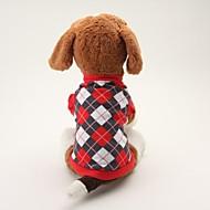 犬用品 Tシャツ ブルー ブラック 犬用ウェア 夏 春/秋 格子柄 カジュアル/普段着 クラシック