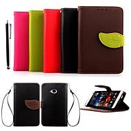 Para Funda HTC Soporte de Coche / Cartera / con Soporte / Flip Funda Cuerpo Entero Funda Un Color Dura Cuero Sintético HTC