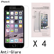 Anti-Fingerprint Highest Quality Premium High Definition Screen Protector for iPhone 6S/6 (4 pcs)