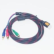 1.5m 4.92ft universale maschio hdmi a 3 RCA maschio cavo adattatore libera il trasporto av componente