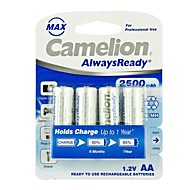 camelion AlwaysReady 2500mAh lage zelfontlading Ni-MH AA oplaadbare batterij (4 stuks)