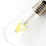 ON E26/E27 4.5 W 4 COB 400 LM Warm White T Dimmable / Decorative LED Filament Lamps AC 110-130 V
