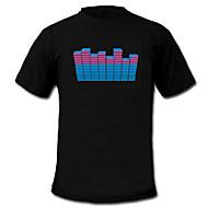 音と音楽活性化エルビジュアライザVU-スペクトルダンサーのTシャツ(4 * AAA)