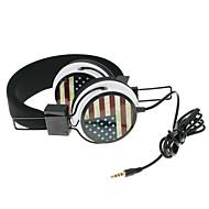 WZS-ergonominen hifi-kuulokkeet ja mikrofoni mikrofoni-Britannian lippu (musta)