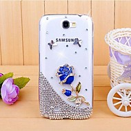 For Samsung Galaxy Note Rhinsten Transparent Mønster Etui Bagcover Etui 3D-tegneserie PC for Samsung Note 2