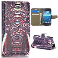 For Samsung Galaxy etui Pung / Kortholder / Med stativ / Flip / Mønster Etui Heldækkende Etui Elefant Kunstlæder Samsung S5 Mini / Trend 3