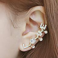 귀는 러브 초기 보석 라인석 모조 다이아몬드 합금 보석류 용 일상 캐쥬얼 1PC