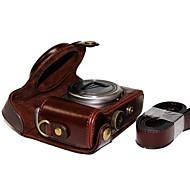 ソニーDSC-hx50v hx60 HX50 HX30 HX10 LCJ-HNのためのショルダーストラップ付きdengpin®革保護カメラケースバッグカバー