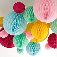 10 inch honingraat weefsel papieren bloem bal (meer kleuren)