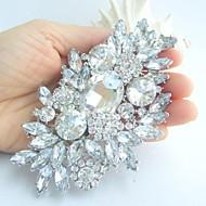 Ženska berba legure s jasno bižuterija kristalno cvijet svadba broš buket vjenčanja nakit