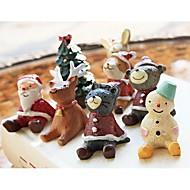 10stk søde lille dyr med julen tøj dukke til jul dekoration legetøj