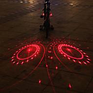 UNGROL 2 Red Turbo Design 1 Laser Module 6 LED 6 Flash Mode Black Bike Warning Laser Light