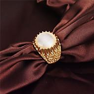 aleación plateada oro de época clásica forma de girasol ópalos anillo de los hombres