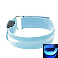 LED Light Screen Arm Band Strap Armband Blue (2xCR2032)